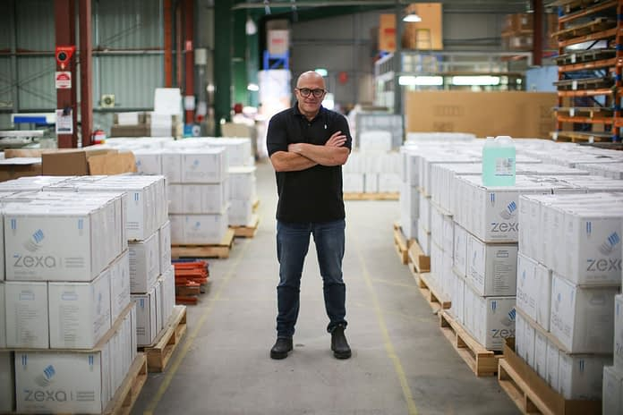 Managing Director, Greg Gates inside the production facility